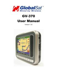GV-370 User Manual - GPS Central