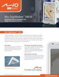 Mio DigiWalker™ H610 DataSheet