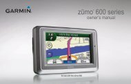 zūmo 600 Series Owner's Manual - GPS Central