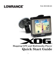 Quick Start Guide - Lowrance