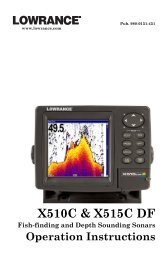 X515C DF & X510C Manual - Lowrance