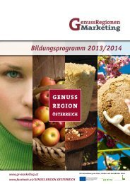 Bildungsprogramm 2013/2014 - GRM GenussRegionen Marketing ...