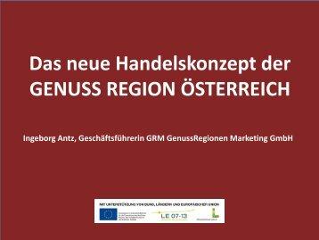 Handelskonzept 2012 präsentiert von GF Ingeborg Antz - GRM ...