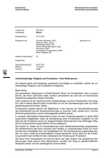 Unselbstständige Tätigkeit und Prostitution - Kein Widerspruch Der ...