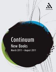 Continuum New Books Mar - Aug 2011