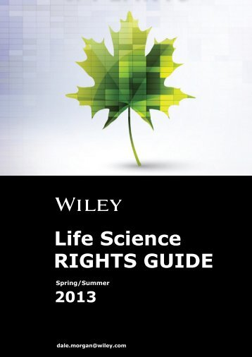 RIGHTS GUIDE Life Science