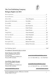 The Text Publishing Company Bologna Rights List 2013