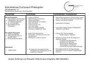 Schulinternes Curriculum Philosophie - Grabbe Gymnasium