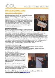 Informationen der ÖGL – Oktober 2008 SYMPOSIUM ... - OGL
