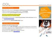DER ÖGL AWARD 2012 SYMPOSIUM GRABENLOS 2012 - OGL
