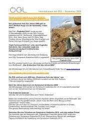 Informationen der ÖGL – Dezember 2008 - OGL