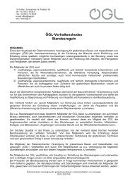 ÖGL-Verhaltenskodex Standesregeln - OGL