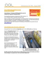 Informationen der ÖGL – August 2008 - OGL