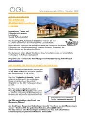 Informationen der ÖGL – Oktober 2009 - OGL