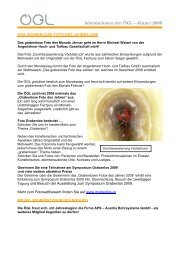 Informationen der ÖGL – Jänner 2008 - OGL