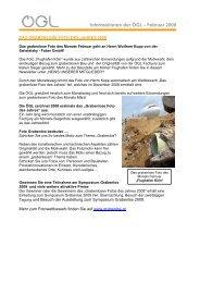 Informationen der ÖGL – Februar 2008 - OGL