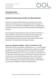 Presseinformation Grabenlose Sanierung 6x schneller als ... - OGL