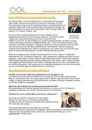Informationen der ÖGL – Jänner 2010 - OGL