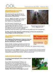 Informationen der ÖGL – Februar 2011 - OGL