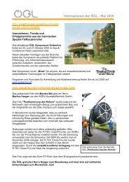 Informationen der ÖGL – Mai 2009 - OGL