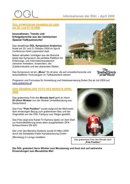 Informationen der ÖGL – April 2009 - OGL