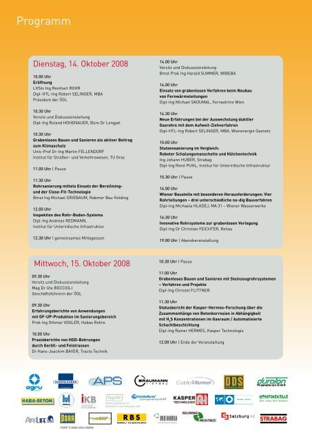 ÖGL Symposium Grabenlos 2008 - OGL