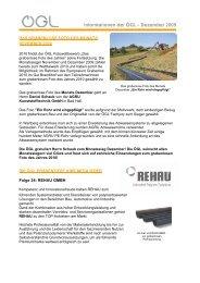 Informationen der ÖGL – Dezember 2009 - OGL