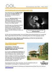 Informationen der ÖGL – März 2009 - OGL