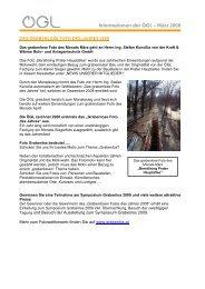 Informationen der ÖGL – März 2008 - OGL