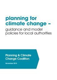 Planning for Climate Change – guidance and model policies