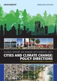 Cities and Climate Change: Policy Directions - UN-Habitat