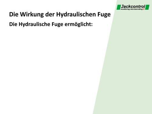 Die Hydraulische Fuge