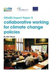 collaborative working for climate change policies - GRaBS