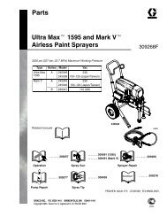 309268F Ultra Max 1595 and Mark V Airless Paint ... - Graco Inc.