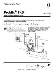 313979D, ProMix 2KS Manual Systems, Repair-Parts ... - Graco Inc.