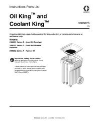 308667S Oil King and Coolant King, Instructions-Parts ... - Graco Inc.