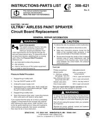 Ultra Airless Paint Sprayer Circuit Board Replacement - Graco Inc.