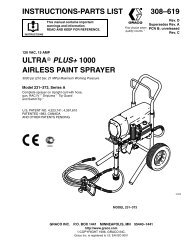 308619D Ultra Plus+ 1000 Airless Paint Sprayer - Graco Inc.