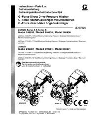 309912J G-Force Direct Drive Pressure Washer, English ... - Graco Inc.