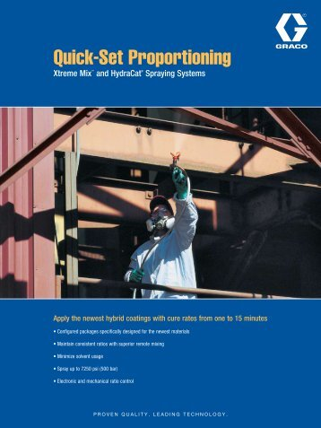 Quick-Set Proportioning - Graco Inc.