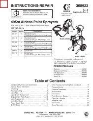308922B 495st Airless Paint Sprayers - Graco Inc.