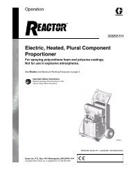 309551H - Reactor, Electric, Heated, Plural Component Proportioner