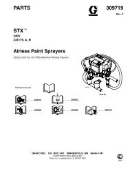 309719C STX Airless Paint Sprayers Parts - Graco Inc.