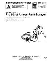 Pro 501st Airless Paint Sprayer - Graco Inc.