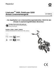 311091K - LineLazer, FieldLazer S200 Airless Sprayer ... - Graco Inc.