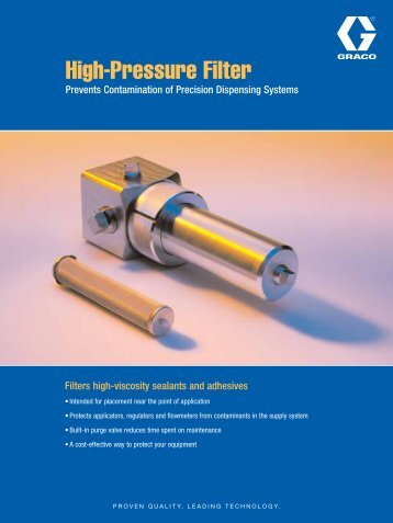 High-Pressure Filter - Graco Inc.