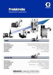 320670G , Produktreihe Übersicht Graco I Liquid Control