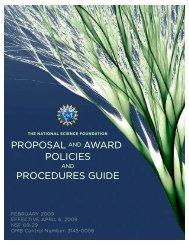 proposal award policies procedures guide ... - Graduate College