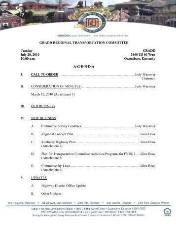 regional transportation committee - Green River Area Development ...