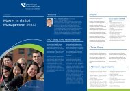 Master in Global Management (MBA) - International Graduate Center